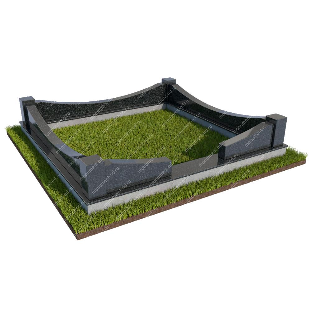 Гранитная ограда ГО-016