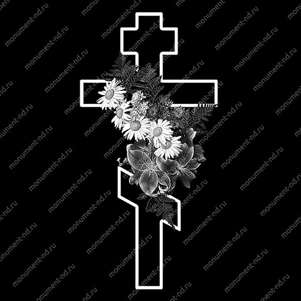 Гравировка Крестика К-016