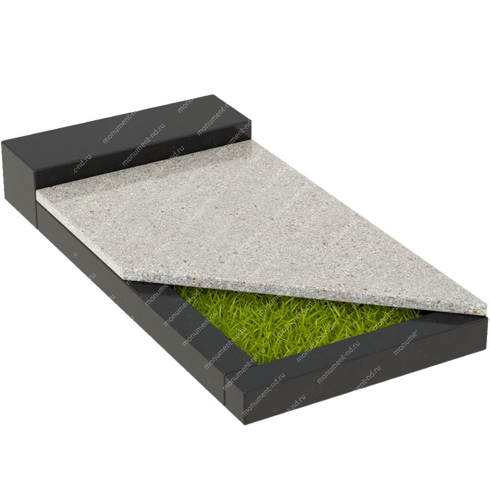 Накладная плита на цветник Цвт-018