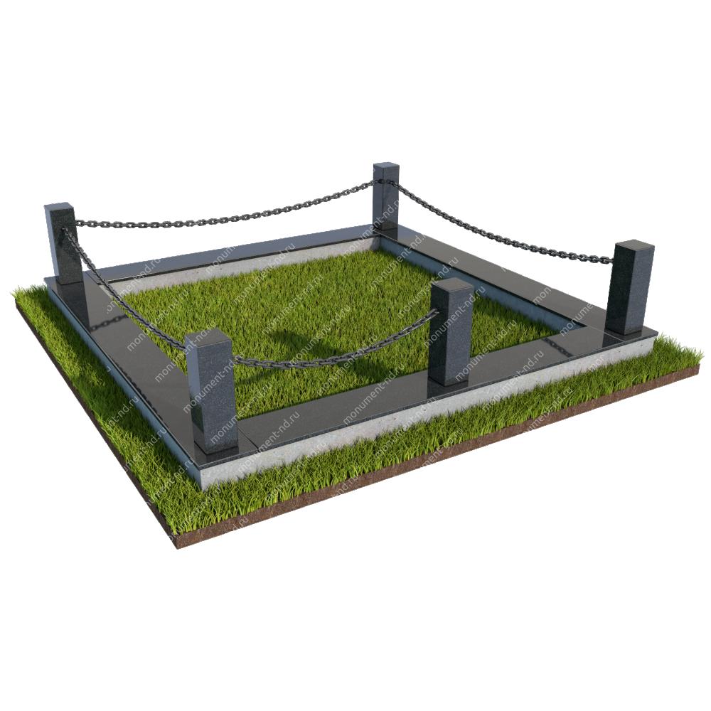 Гранитная ограда ГО-031