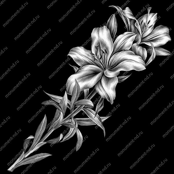Гравировка цветы Цв-014