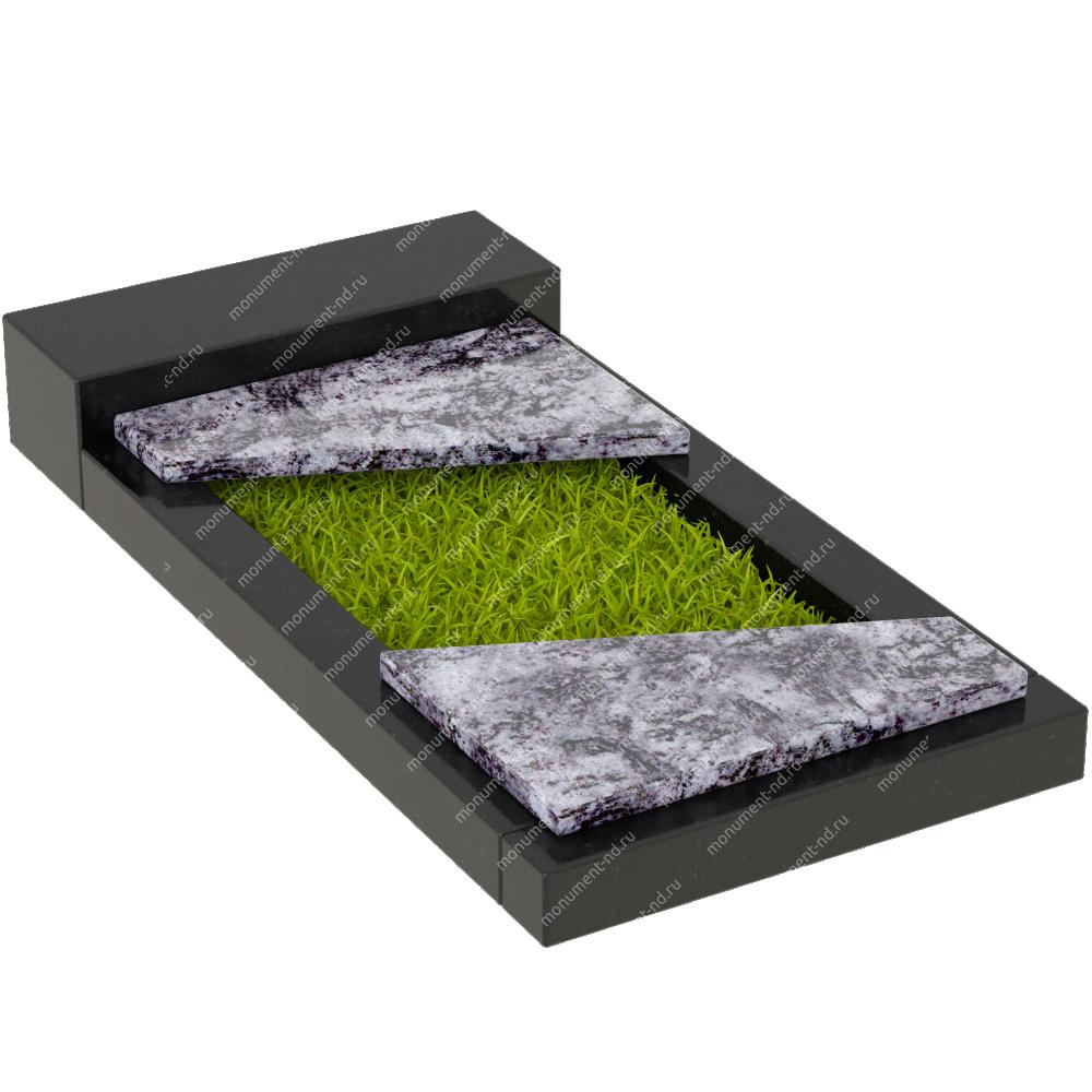 Накладная плита на цветник Цвт-015