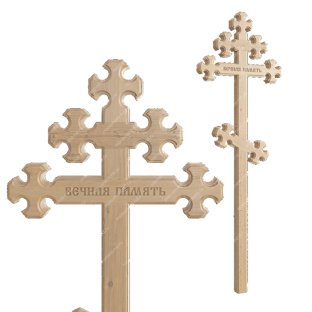 Деревянный крест на могилу ДкС - 010