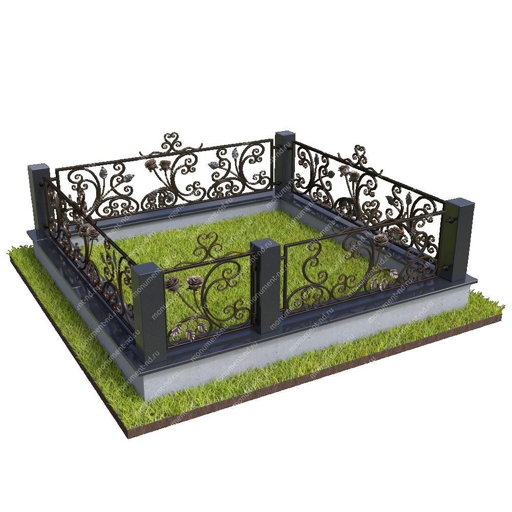 Гранитная ограда ГО-040