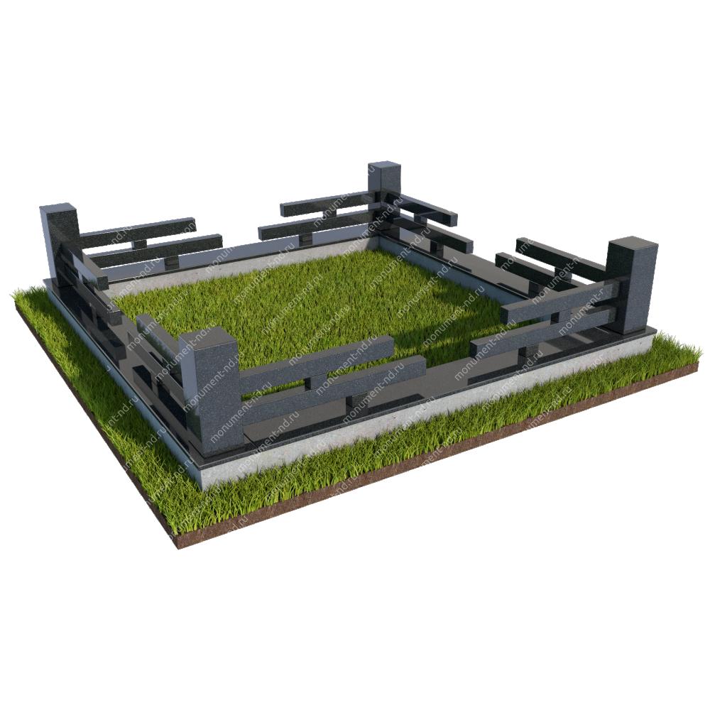 Гранитная ограда ГО-017