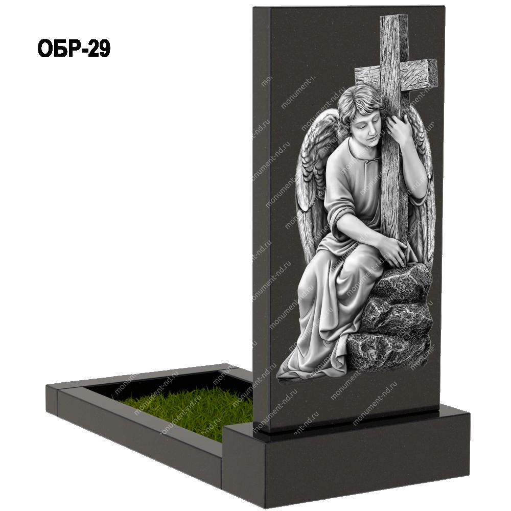 Гравировка обратной стороны памятника Обр-029