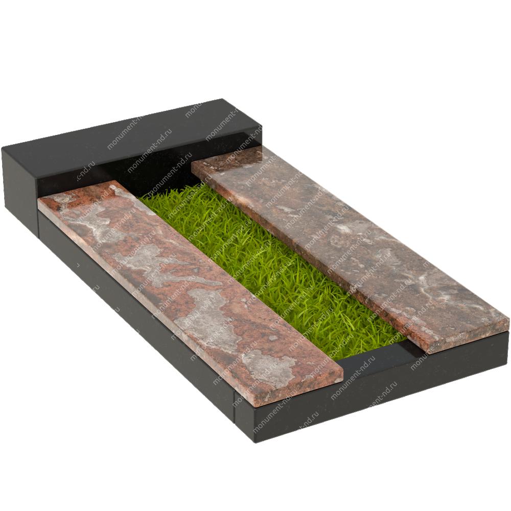 Накладная плита на цветник Цвт-012