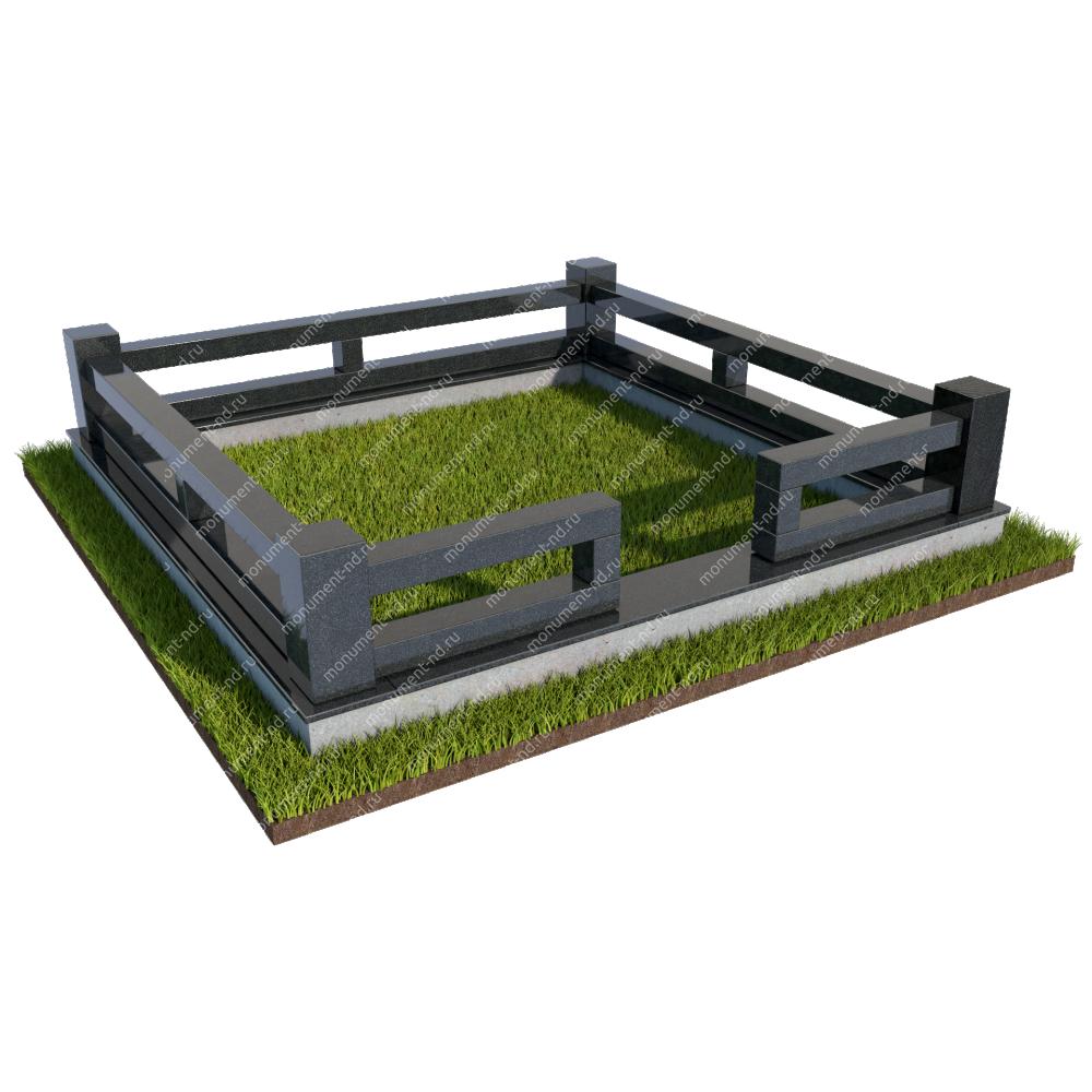 Гранитная ограда ГО-027