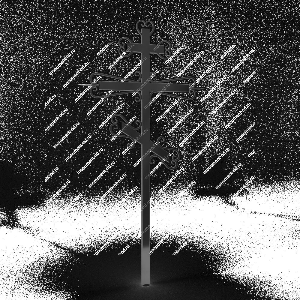 Металлический крест на могилу Кр - 016