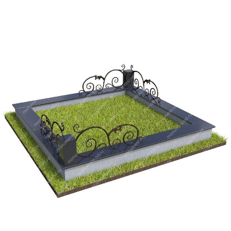 Гранитная ограда ГО-036