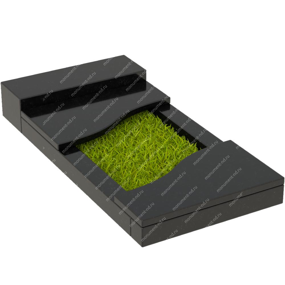 Накладная плита на цветник Цвт-006