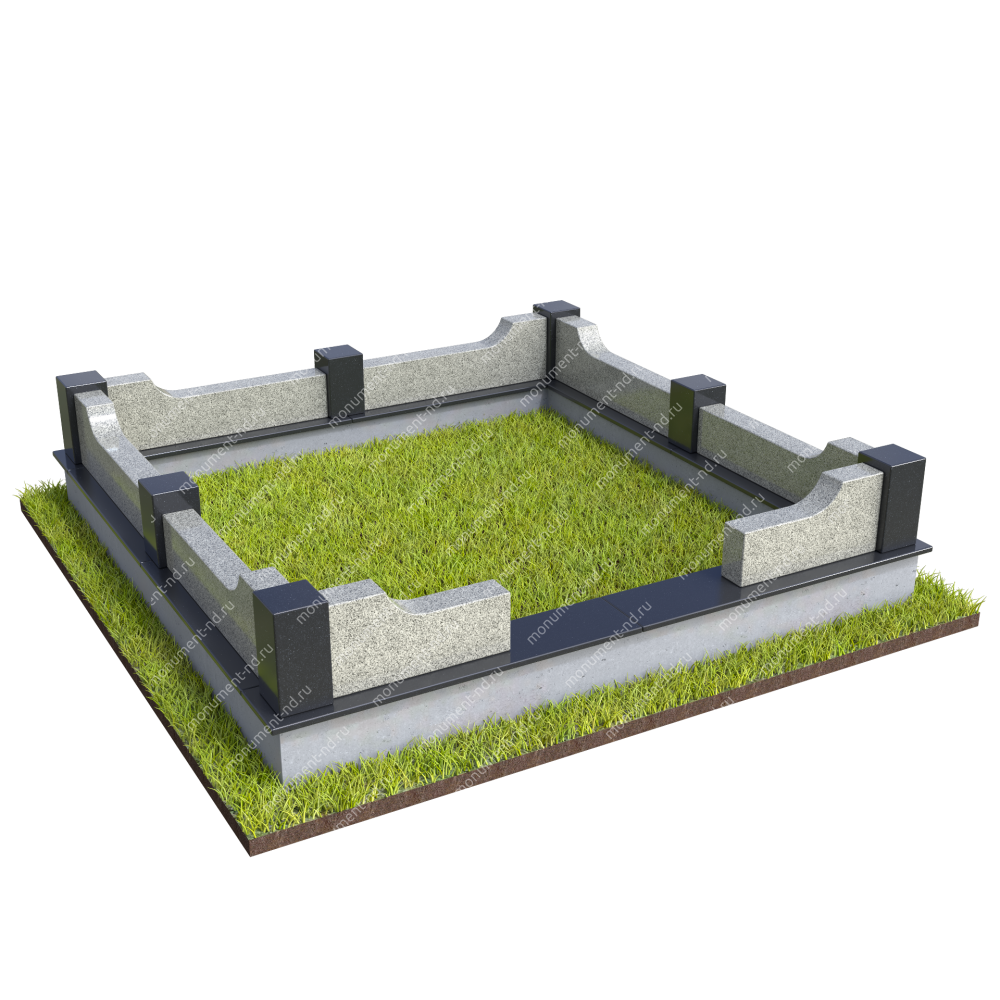 Гранитная ограда ГО-064