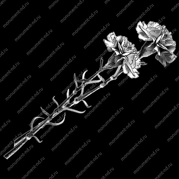 Гравировка цветы Цв-002