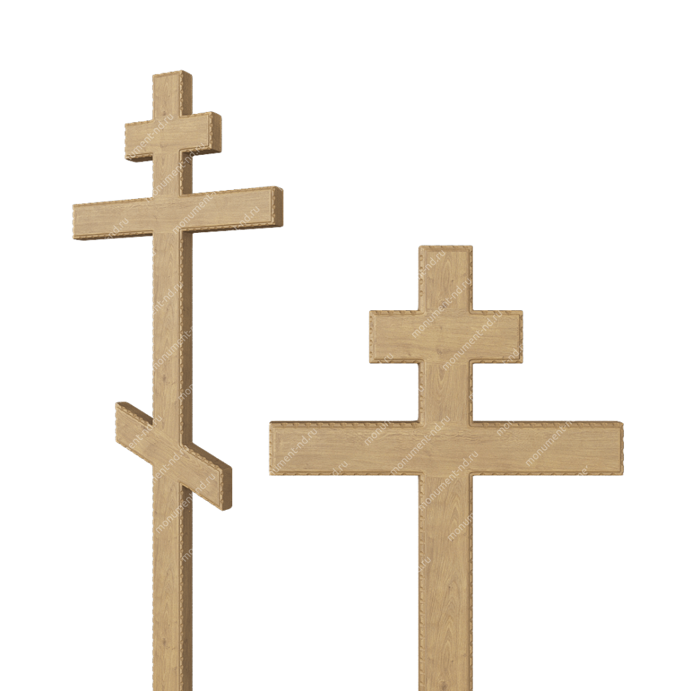 Деревянный крест на могилу ДкД - 004