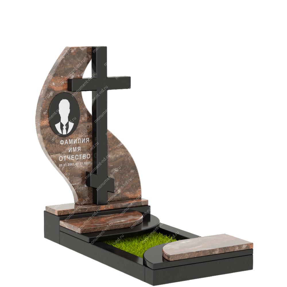 Памятник из цветного гранита - 017