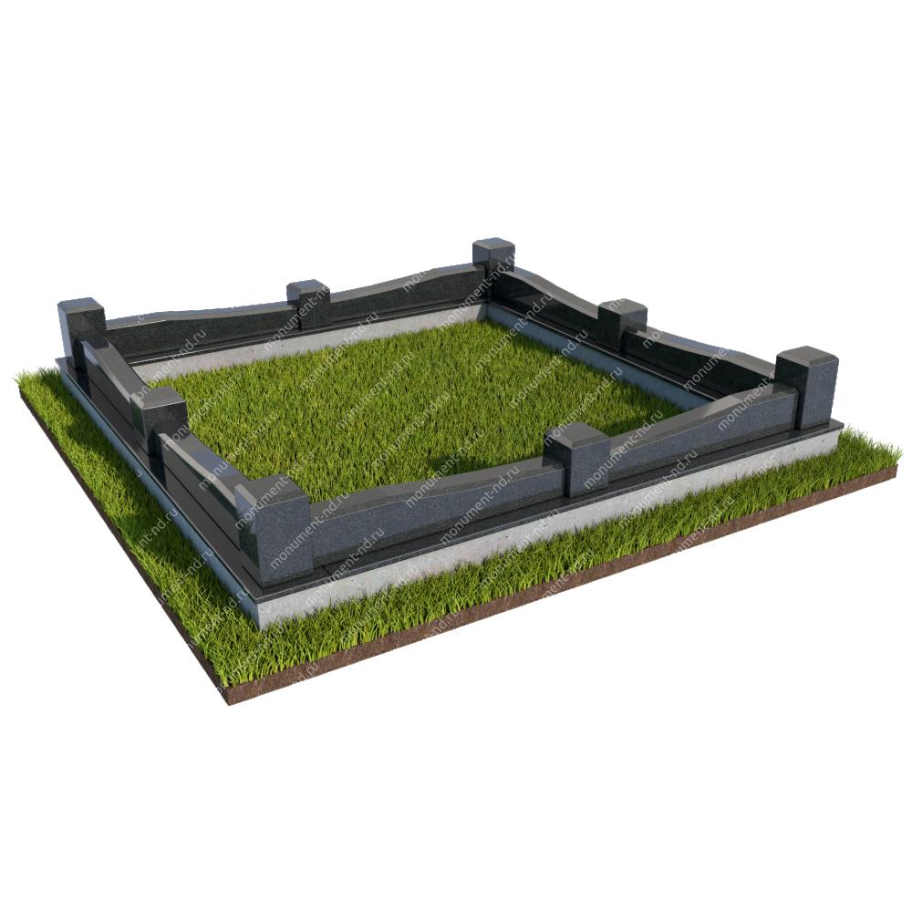 Гранитная ограда ГО-021