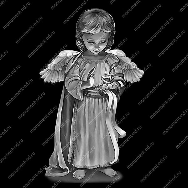 Гравировка ангела А-008 от 25х25 см