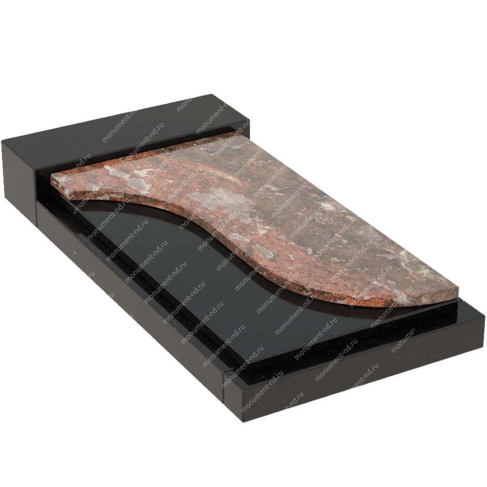 Накладная плита на цветник Цвт-017