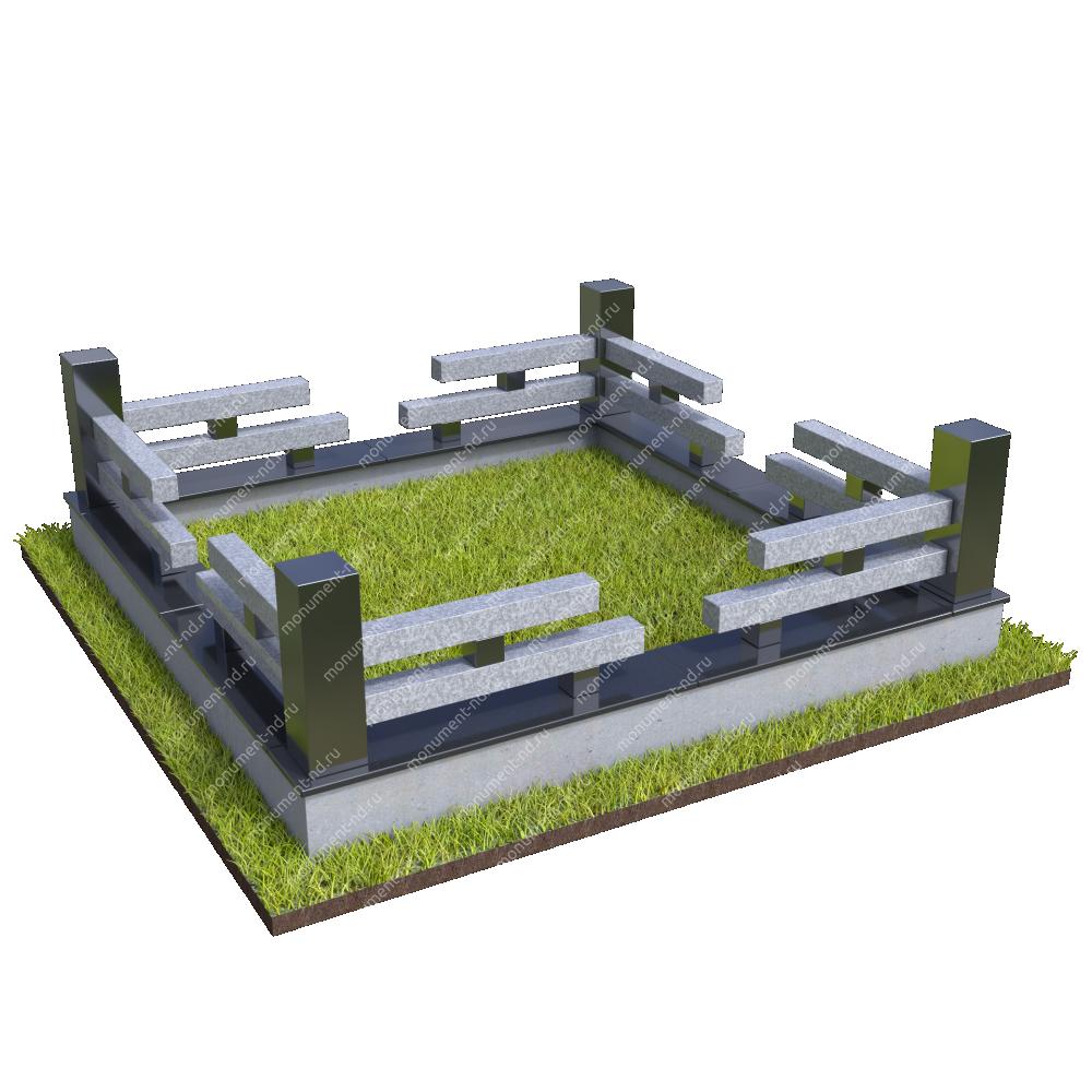 Гранитная ограда ГО-052