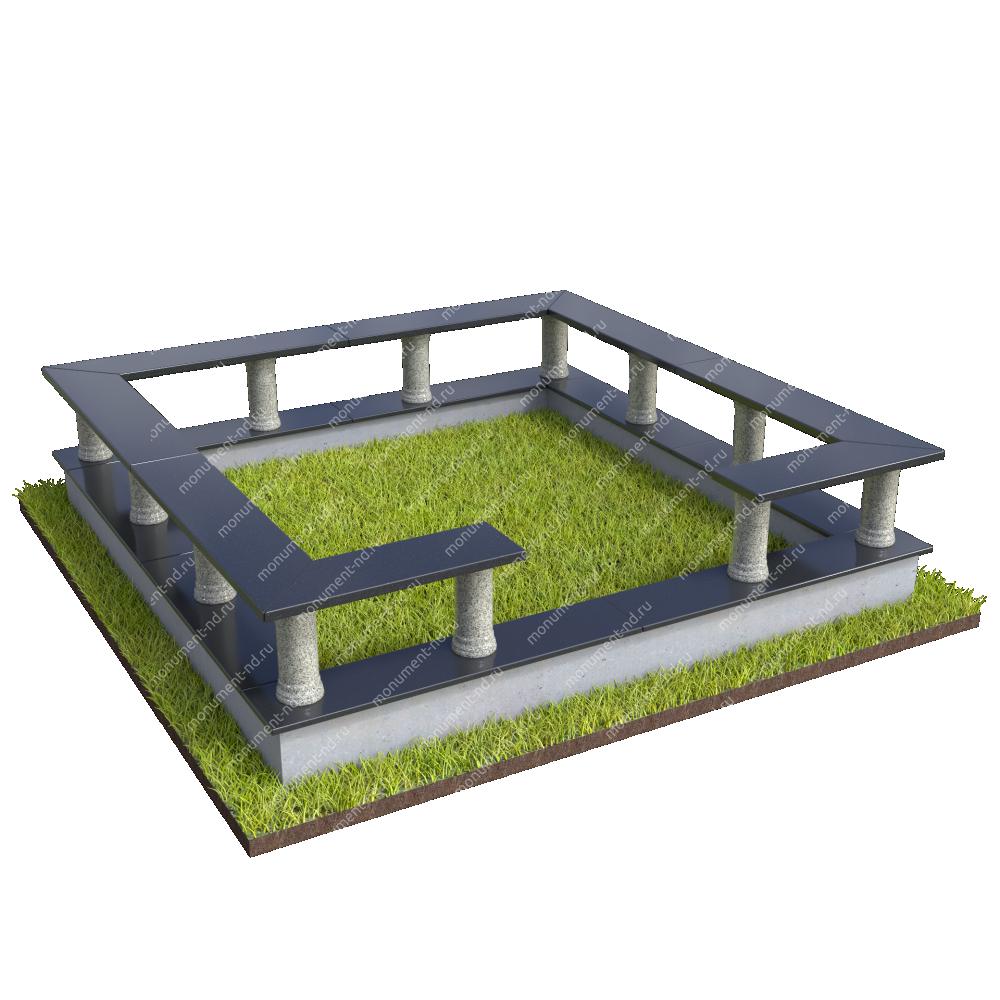Гранитная ограда ГО-059
