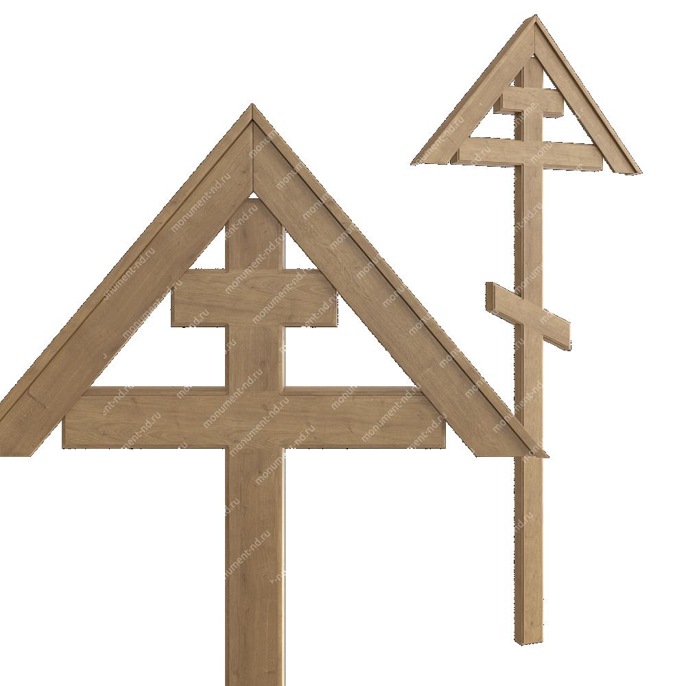 Деревянный крест на могилу ДкД - 002
