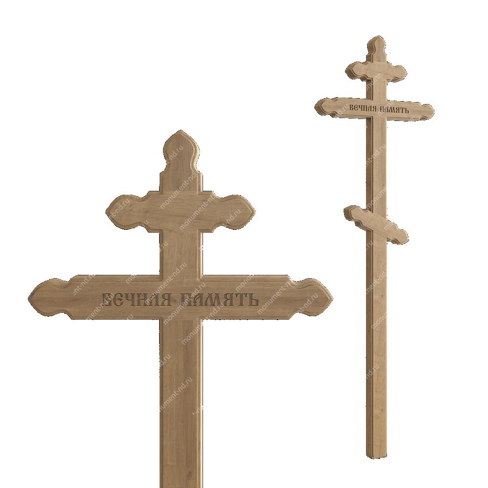 Деревянный крест на могилу ДкД - 009