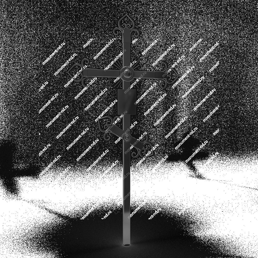 Металлический крест на могилу Кр - 006