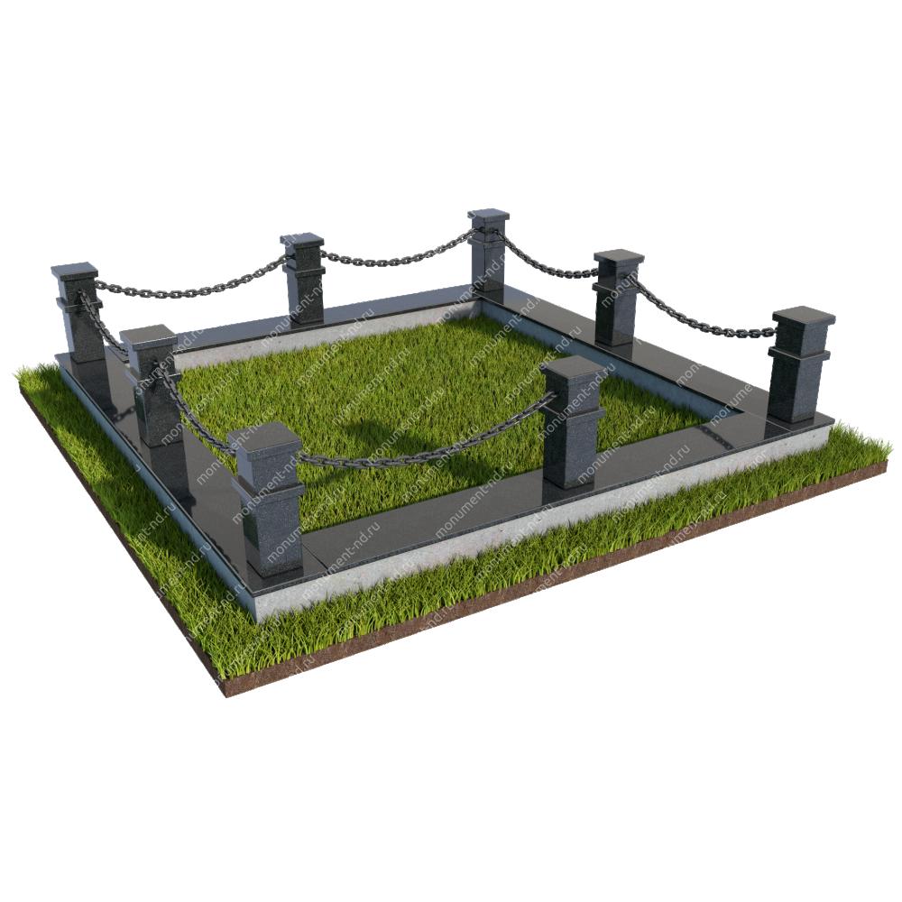 Гранитная ограда ГО-029