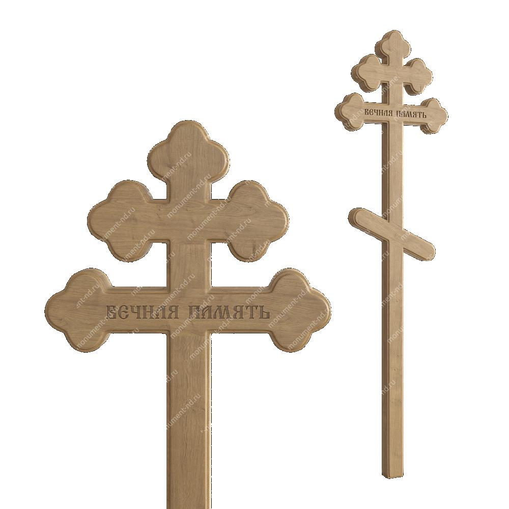 Деревянный крест на могилу ДкД - 005