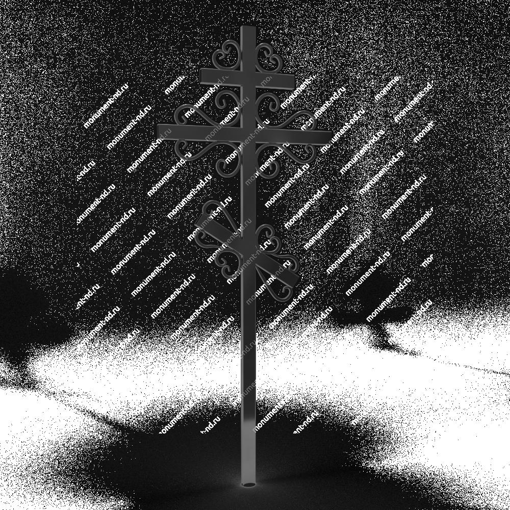 Металлический крест на могилу Кр - 012