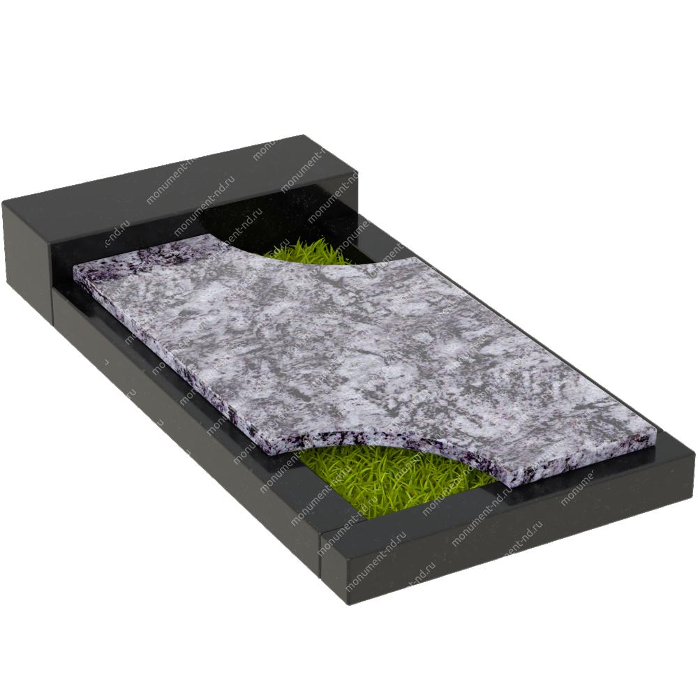 Накладная плита на цветник Цвт-025