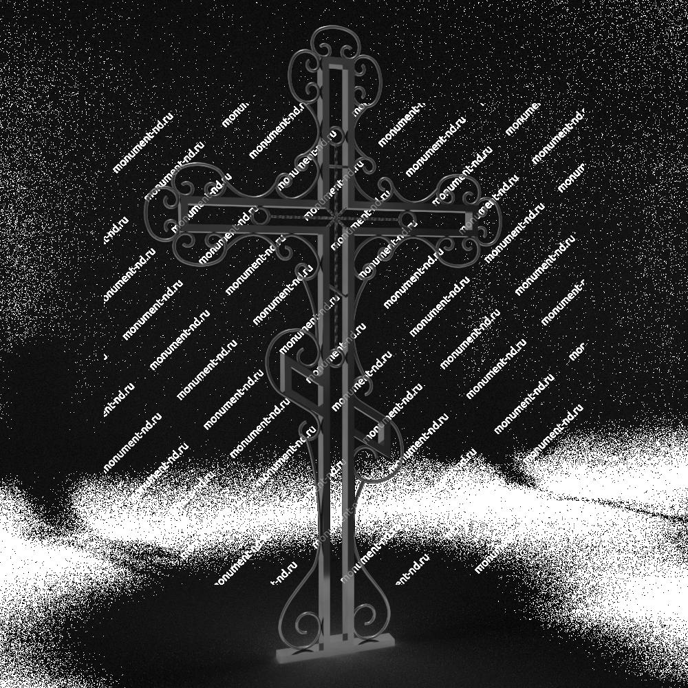 Металлический крест на могилу Кр-002