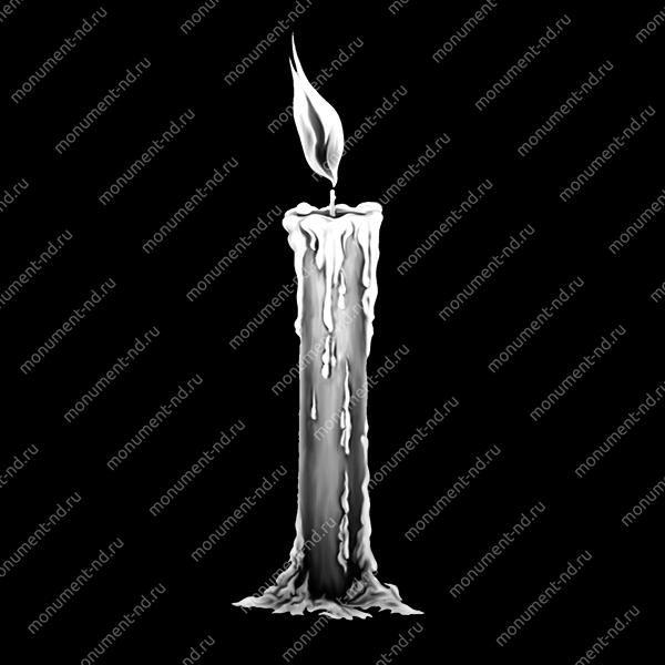 Гравировка свечи С-017