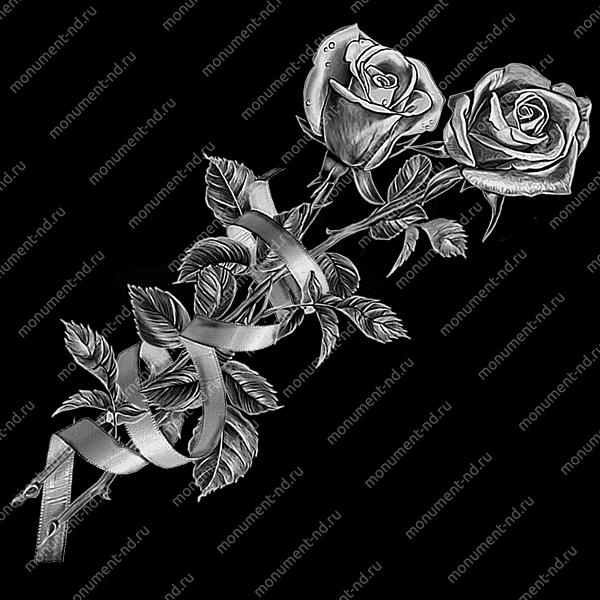 Гравировка цветы  Цв-005