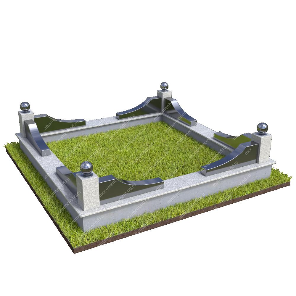 Гранитная ограда ГО-049