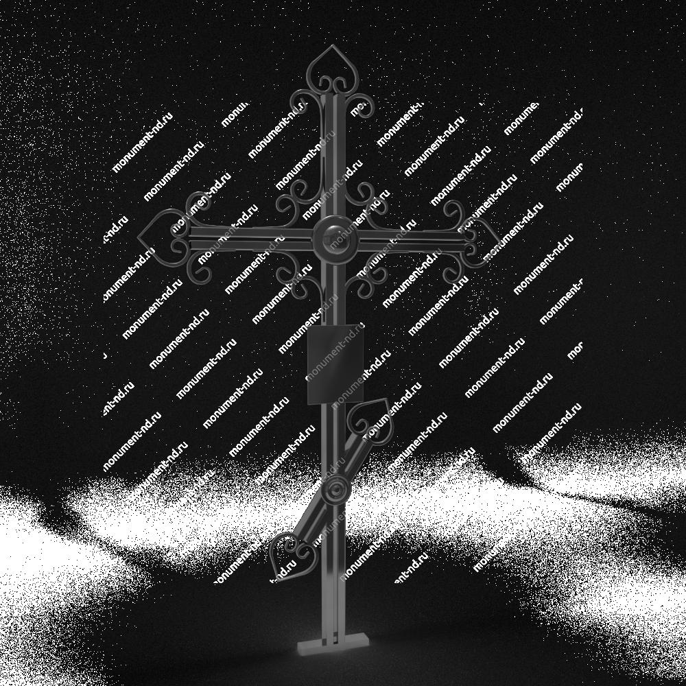 Металлический крест на могилу Кр - 009