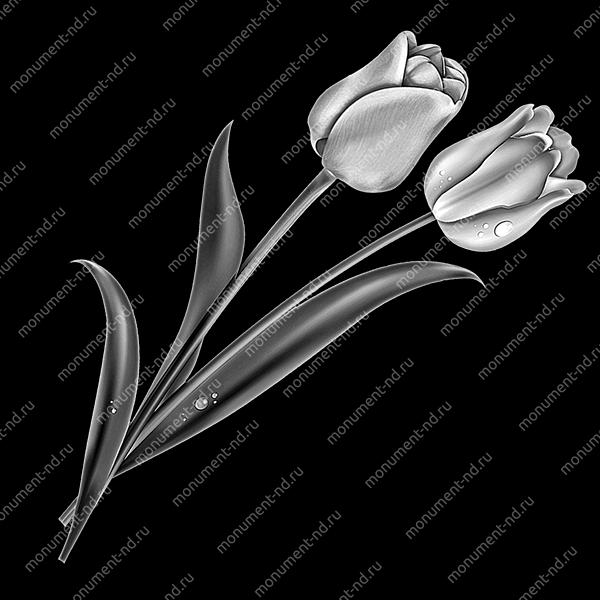 Гравировка цветы Цв-007