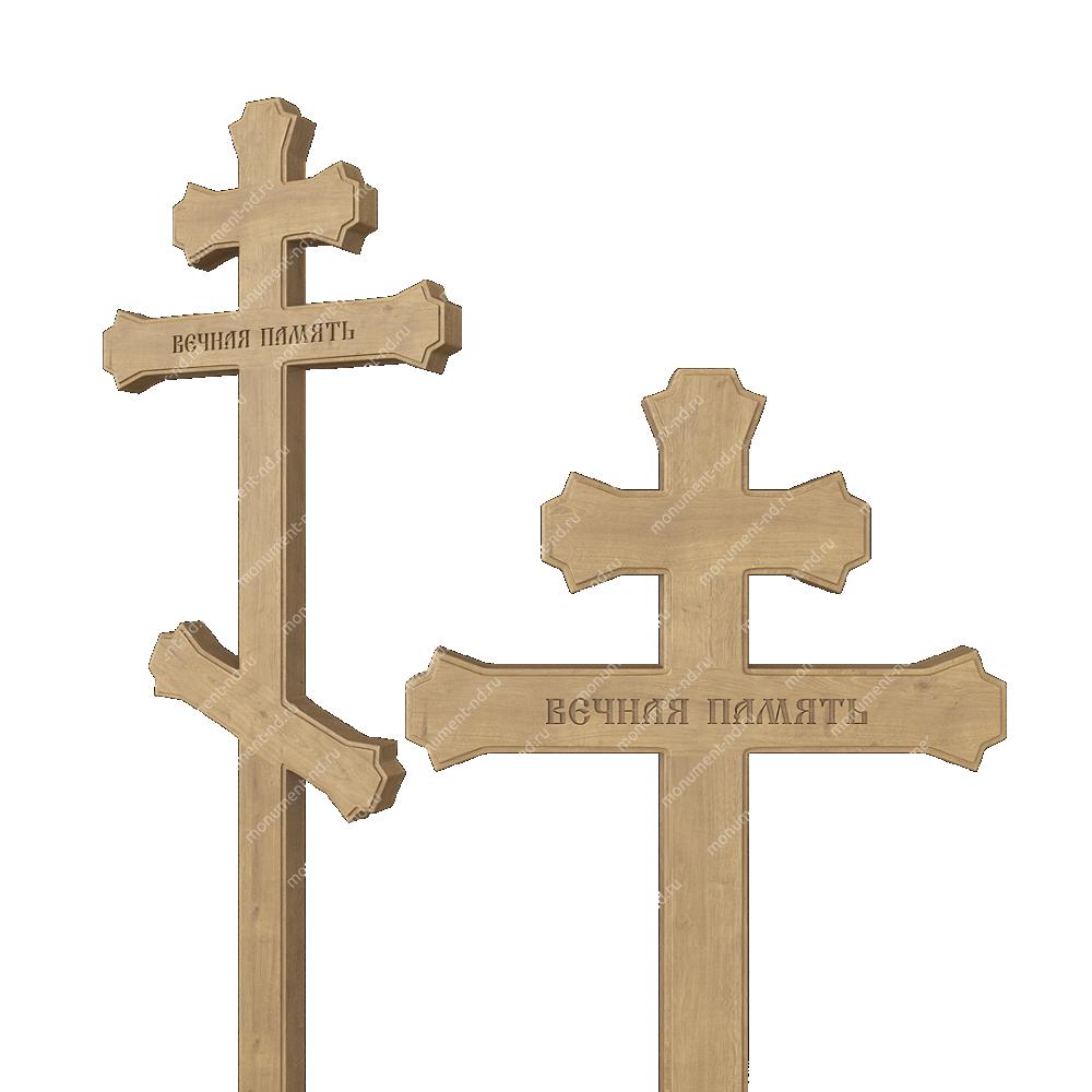 Деревянный крест на могилу ДкД - 006
