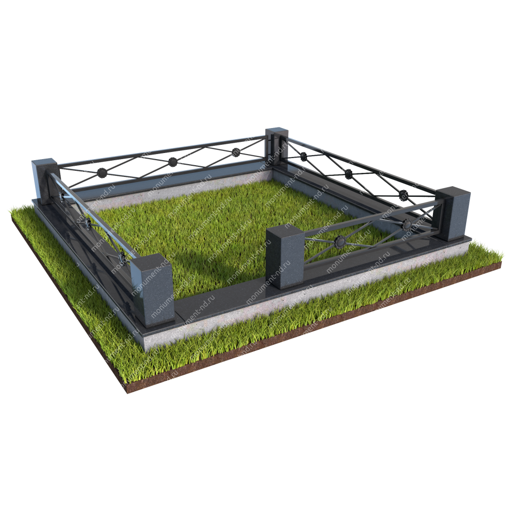 Гранитная ограда ГО-014