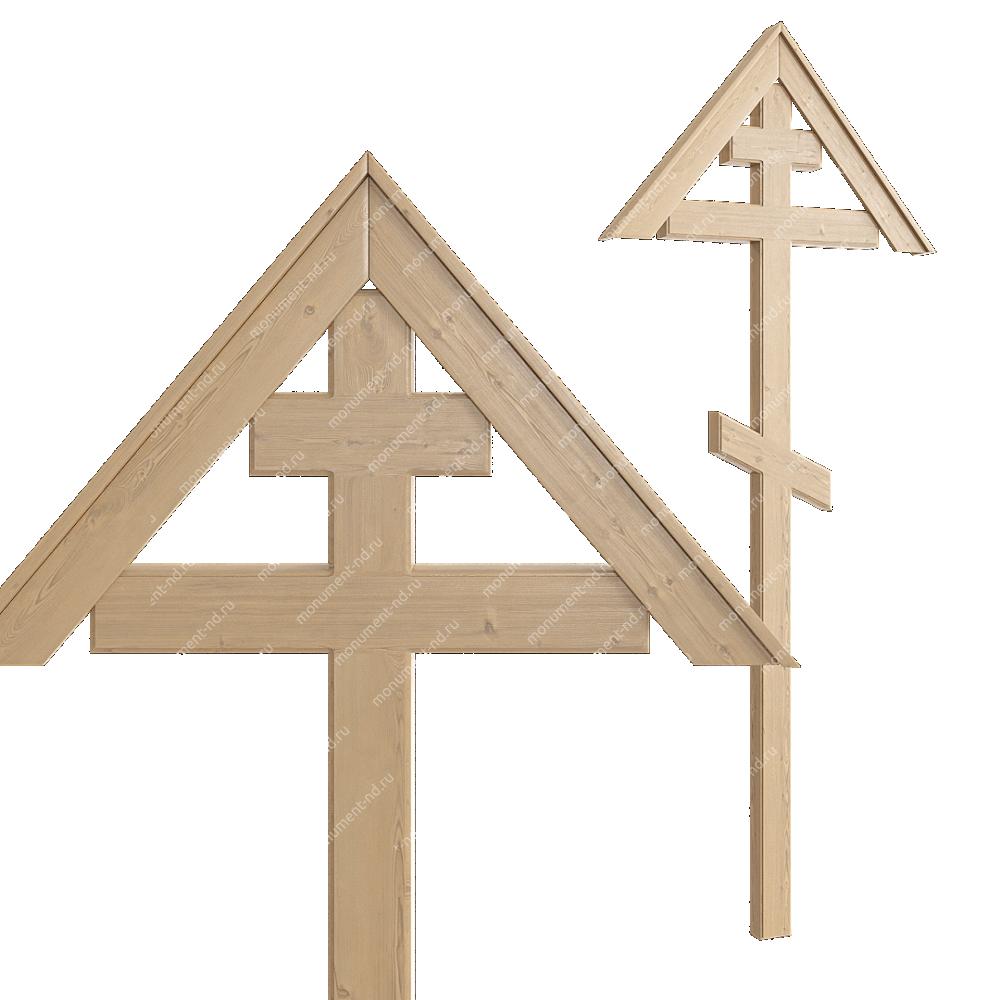 Деревянный крест на могилу ДкС - 002