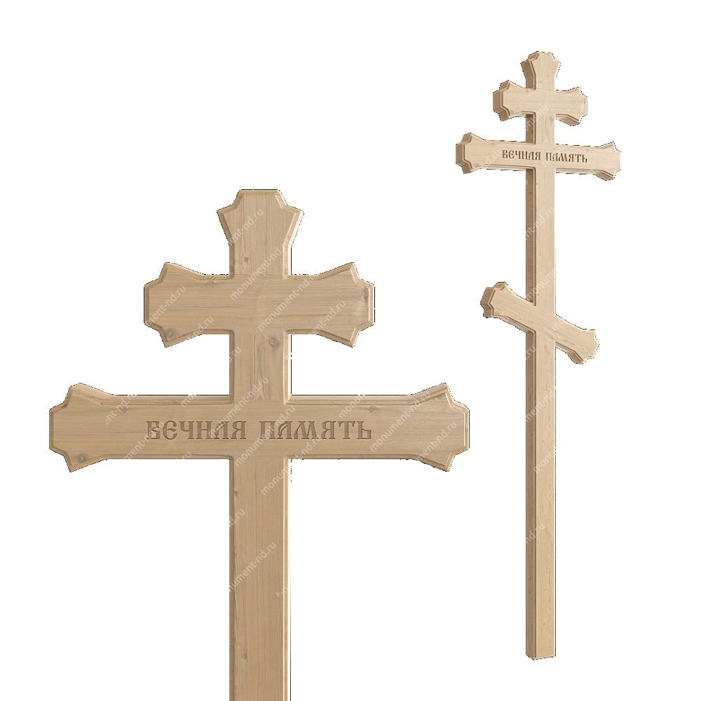 Деревянный крест на могилу ДкС - 006