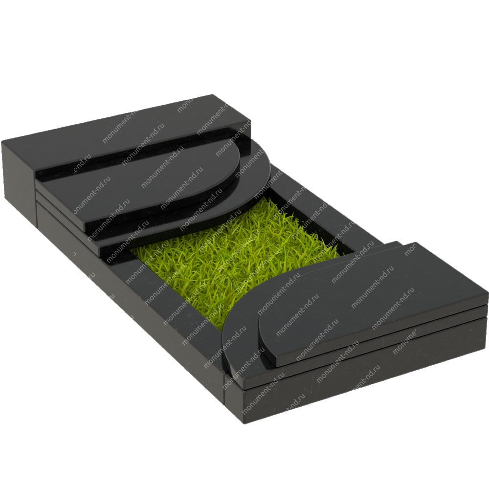 Накладная плита на цветник Цвт-011