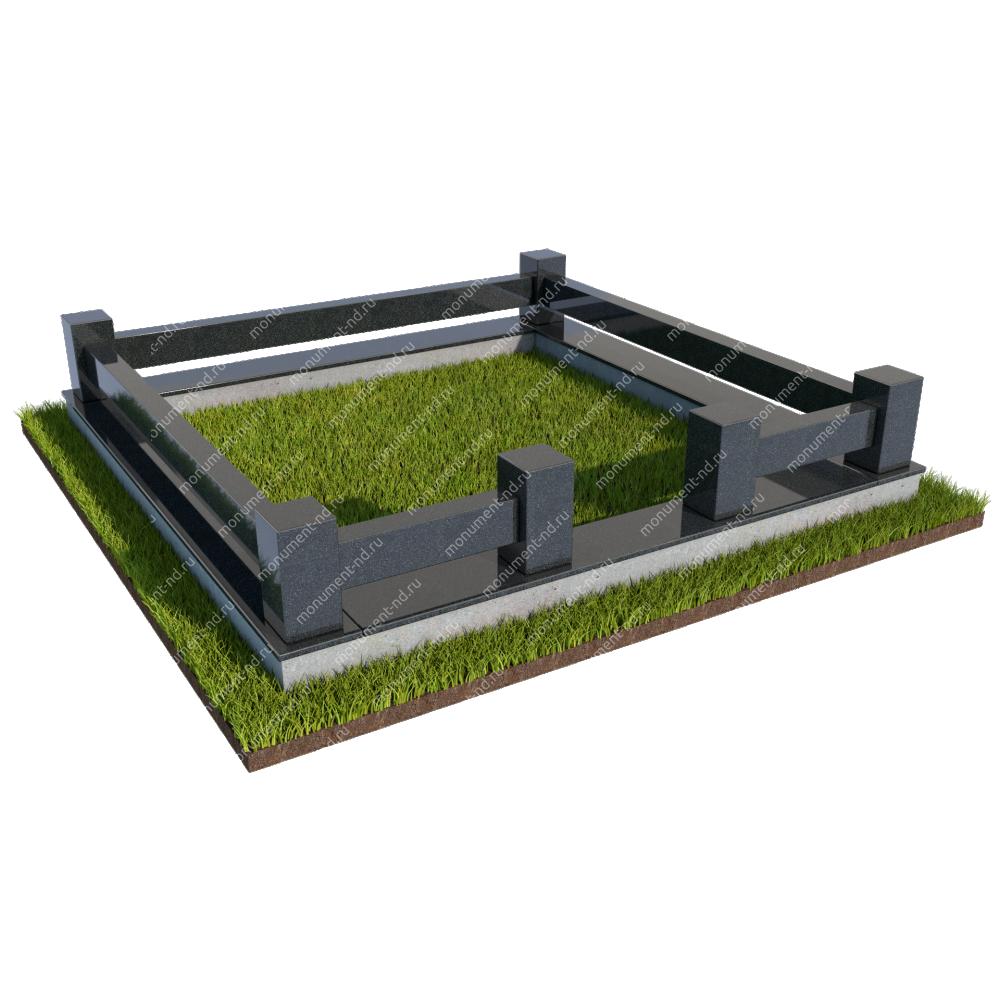 Гранитная ограда ГО-018