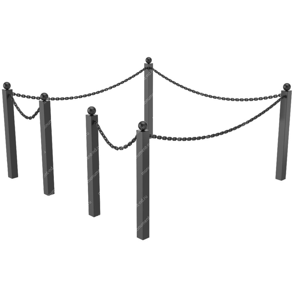 Ограда с цепью ОЦ-02