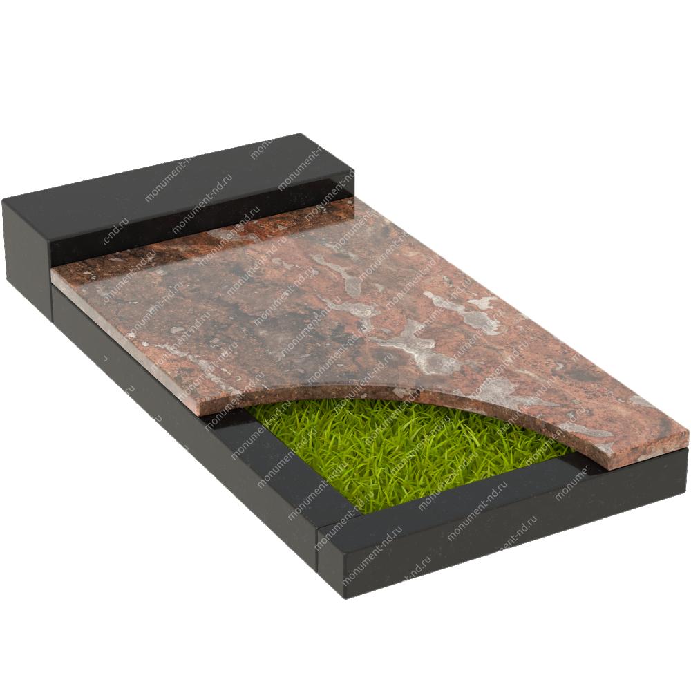 Накладная плита на цветник Цвт-032