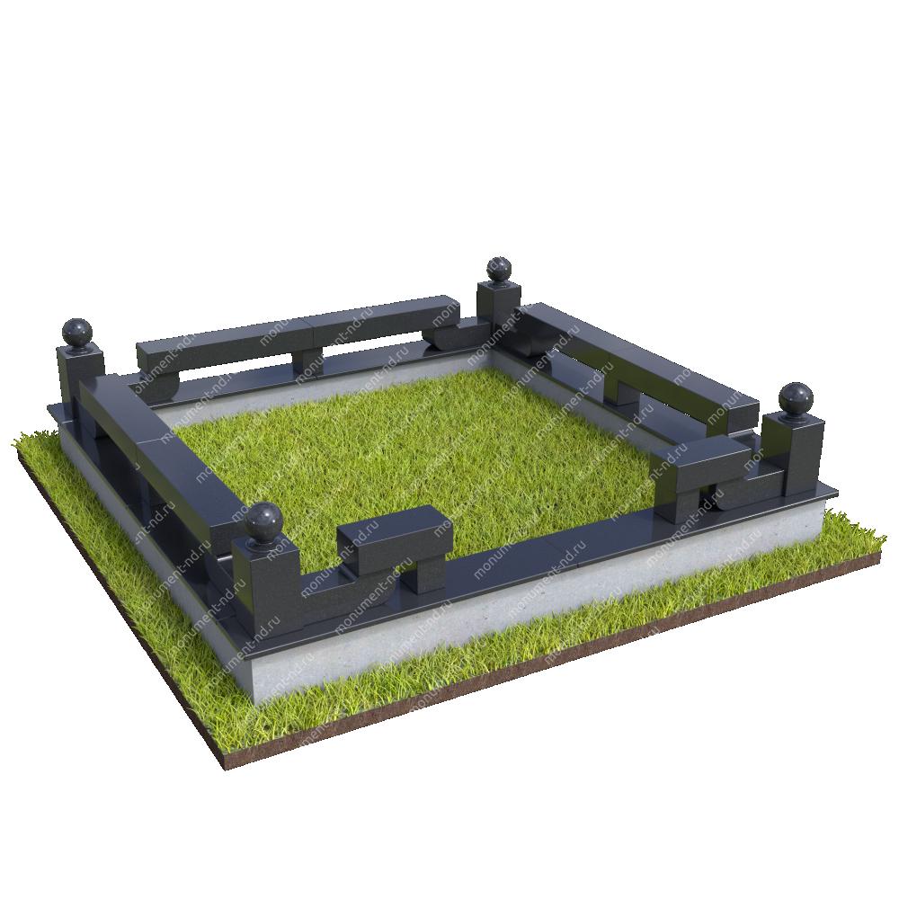 Гранитная ограда ГО-066