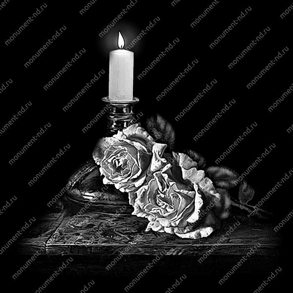 Гравировка свечи С-026