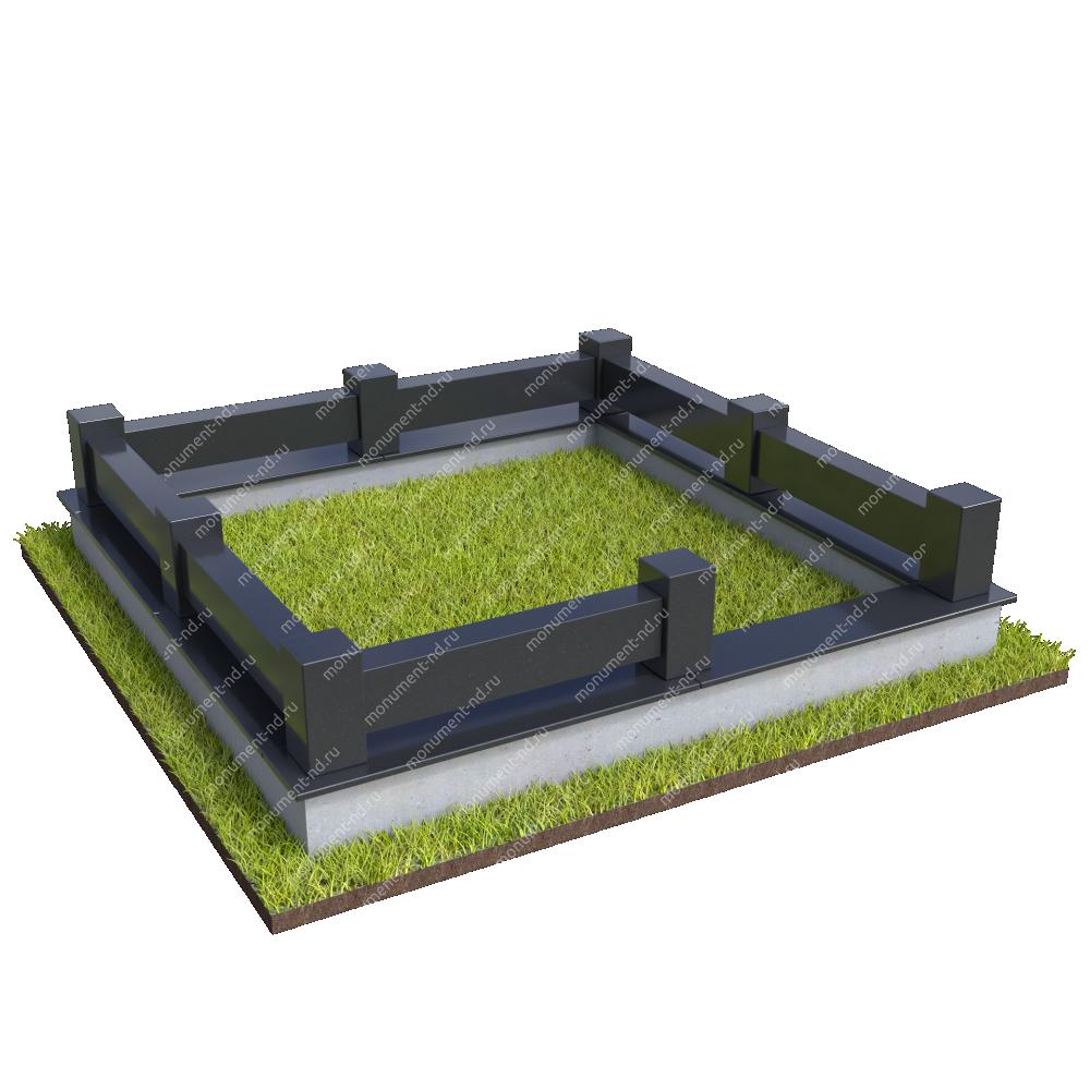 Гранитная ограда ГО-063