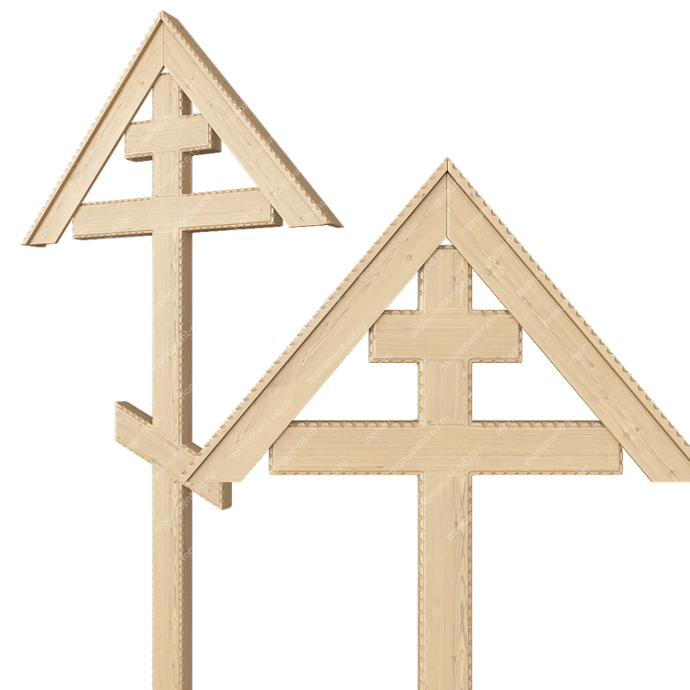 Деревянный крест на могилу ДкС - 011