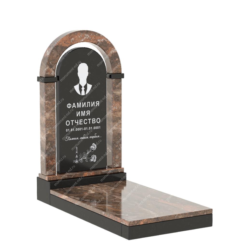Комбинированный памятник из двух гранитов КБ-007-1